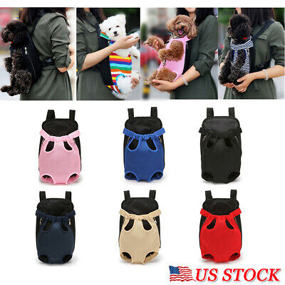 Small Pet Cat Puppy Dog Carrier Front Pack Travel Hiking Backpack Head Legs Out