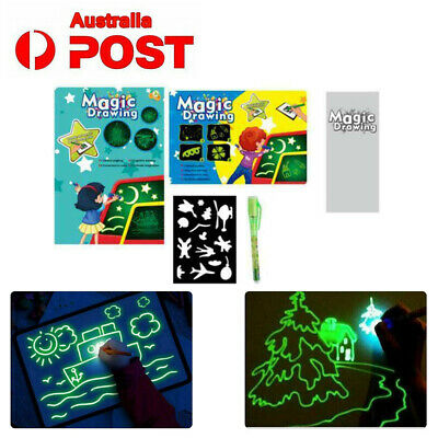 Draw With Light Drawing Board Fun Developing Toy Kids Educational Magic Draw AU