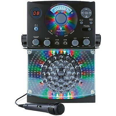 Singing Machine Bluetooth CD+G Karaoke System CD With LED Lights Player Black