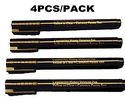 4X Money Tester Pen Checker Bank Note Detector Pens Forged Fake Notes Fraud
