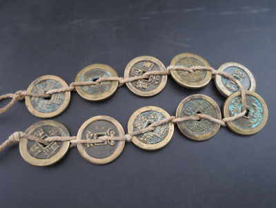 Collect 10pc Chinese Bronze Coin China Old Dynasty Antique Currency Cash #13