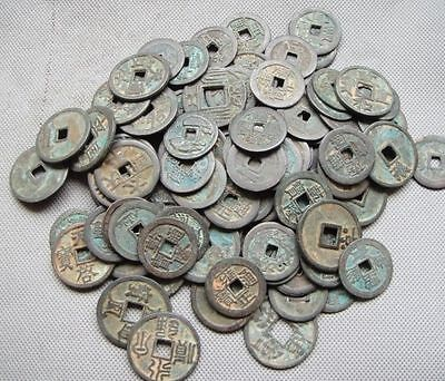 Collect 50pc Chinese Bronze Coin China Old Dynasty Antique Currency Cash