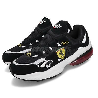 Puma SF Cell Venom Scuderia Ferrari Black White Men Running Shoes 370338-02