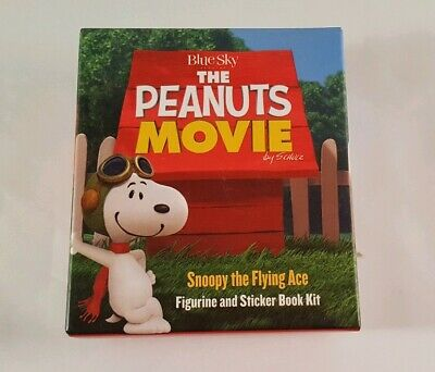 The Peanuts Movie: Snoopy the Flying Ace: Figurine and Sticker Book Kit