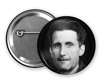 1 Inch D Pin Button Badge George Orwell Writer Author 1984 Animal Farm 25mm