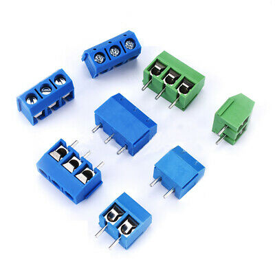 20pcs 2/3pin  Pole 5mm Pitch PCB Mount Screw TermInal Block 16A 300V