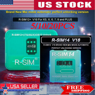 R-SIM14 V18/RSIM12 V16 Nano Unlock RSIM Card for iPhone XS/XR/8/7/6 iOS12 11
