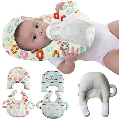 Comfortable Baby Feeding Pillow Cushion with Bottle Holder Hand Free Portable