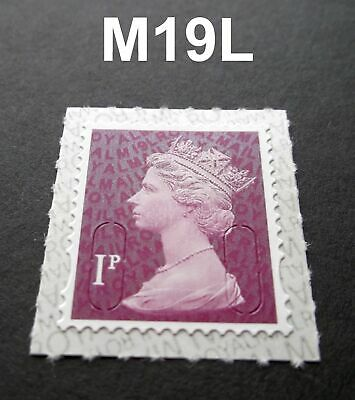 NEW SEPT 2019 1p M19L Code Machin SINGLE MINT STAMP from Counter Sheet