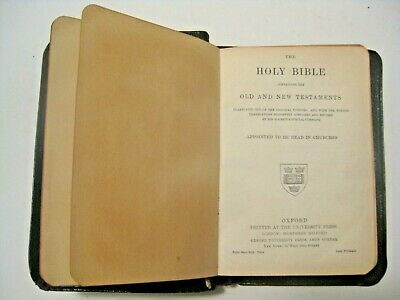 Undated Antique Religious Holy Bible Prayer Book In English