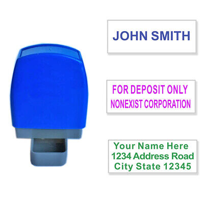 Custom Name Self Inking Stamp Business Personalized Return Address 1 to 3 Lines