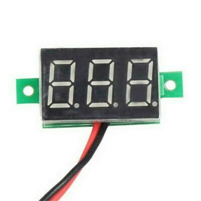 Small 2.4-30V LED 3-Digital Display Volt Voltage Voltmeter Accurate Panel Meter