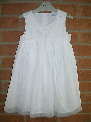 JOHN ROCHA Girls White Daisy Trim Fully Lined Occasion Dress Age 3 98cm