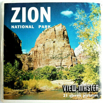 3x VIEW MASTER SCHEIBE / ZION / NATIONAL PARK / HIGHWAY / TEMPLE / MOUNT MARONI