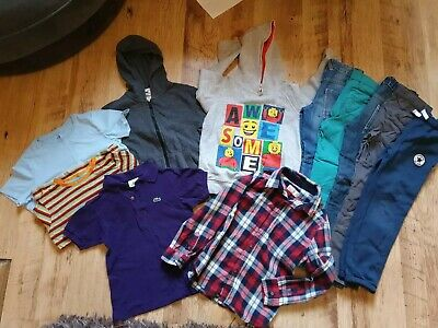 Bundle Of Boys Clothes Age 5-8 includes Converse and Lacoste