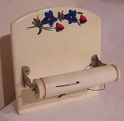 Vintage Musical Swiss Made In Switzerland Music Box Hanging Toilet Paper Holder