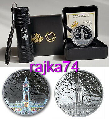 Canada - 20 dollar 2019 - Lights of Parliament Hill - Silber in PROOF