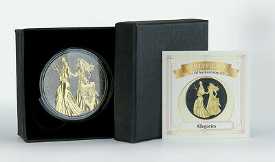 Germania The Allegories Britannia & Germania Ruthenium Gilded 1 oz 999 Silber