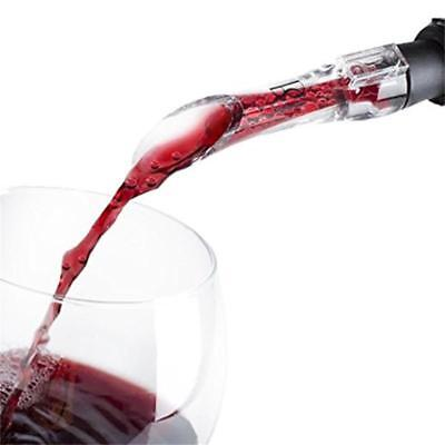 Portable Acrylic Red Wine Aerator Pour Spout Bottle Aerating Decanter Pourer RF