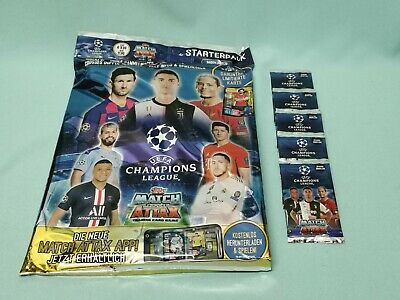 Topps Match Attax Champions League 2019/2020 Starterpack + 5 Booster 19/20