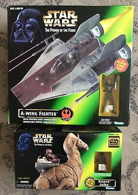 Kenner Star Wars The Power Of The Firce Lot (2) A-Wing Fighter & Ronto & Jawamib