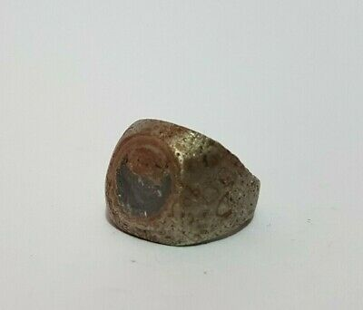 ancient antique roman legionary old ring metal artifact authentic rare type