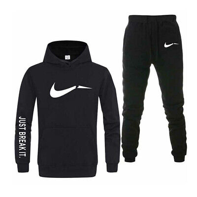 Men's Adult Sport Casual Tracksuit Hoodie Pullover Pants for Gym Outdoor Jogging