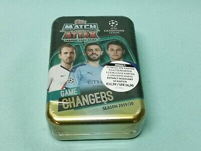 Topps Match Attax Champions League 2019/2020 Mega Tin Box Game Changers 19/20