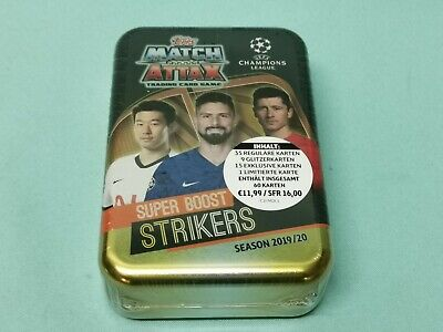 Topps Match Attax Champions League 2019/2020 Mega Tin Box Super Boost Strikers