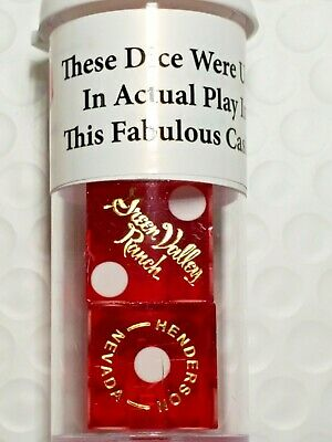 2 Total Green Valley Ranch Henderson Casino Red Polished Dice.
