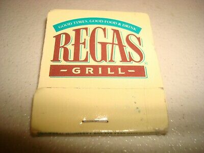 Rare Vintage Matches Regas Grill Lawrence Massachusetts USA Original!