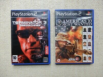 Terminator 3 & Americas 10 Most Wanted – Playstation 2 Game Bundle – PS2 Console