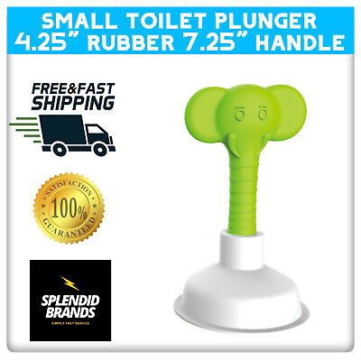 """Mini Plunger With Handle For Toilet Sink Tub & Bathroom Drain 4.2"""" Diameter Gift"""