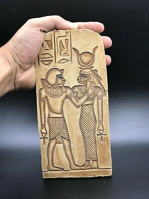 EGYPT EGYPTIAN ANTIQUES ISIS Suckling Stela Wall Relief Carved STONE 1290 BC
