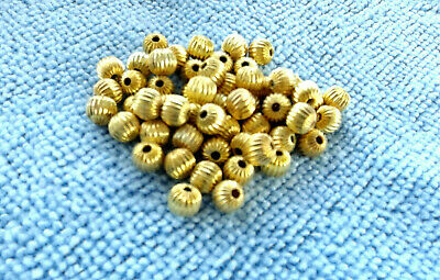 25pcs dark gold-tone oblate bottle spacer beads h2050