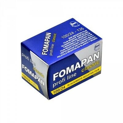 Foma Fomapan Classic 100 ISO Black & White Print Film, 35mm, 24 exposure