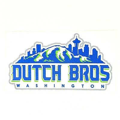 Dutch Bros Coffee Washington State Sticker Decal Collectible EXCELLENT RARE