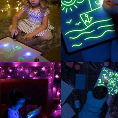 Fluorescent Light Writing Pad Kids Child Drawing Painting Board Educational 2019