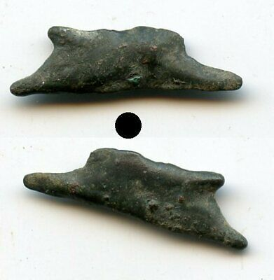 Nice ancient bronze AE22 dolphin-shaped coin, Olbia, Sarmatia, 5th/4th c. BC