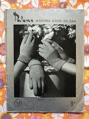 PATONS NO.284 KNITTING PATTERN BOOK Vintage 1940s 1950s Gloves Ladies