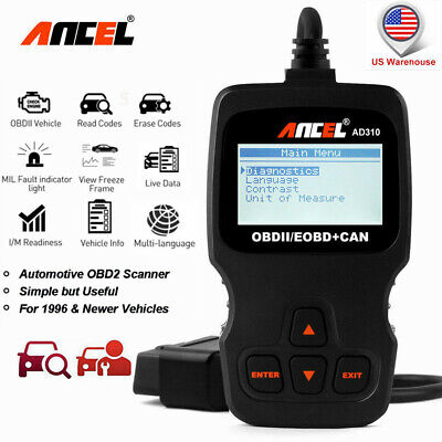 Universal OBD2 EOBD Code Reader EVAP Car Diagnostic Scan tool Check Engine Light