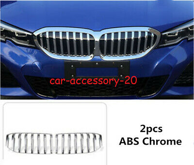 ABS Chrome Front Bumper Center Grille Grill Cover For BMW 3 Series G20 2019 2020