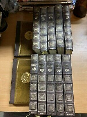 "1967 Winston S Churchill ""The Second World War"" Ww2 Heavy Full Set 12 Vols Books"