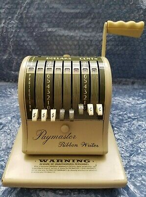 Vintage  Collectible  Paymaster  Ribbon  Writer  Serie 8000