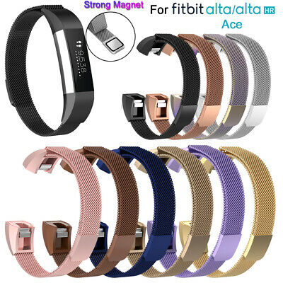 Steel Replacement Band Strap Magnetic Milanese Wristband For Fitbit Alta HR ACE