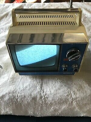 Vintage Sony Portable 5 Inch Television Solid State
