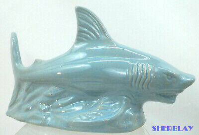 Great White Shark Figurine Ceramic Sea Life Ocean Creature Brazil Handcrafted