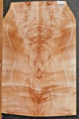 Figured Curly Maple Instrument Wood 10115 Luthier Solid Body Guitar Top set