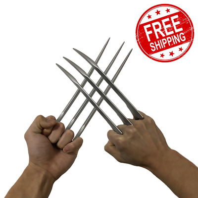 Wolverine Claws Cosplay 1:1 Logan Props X Men Marvel Blade 2pcs Halloween 9 inch