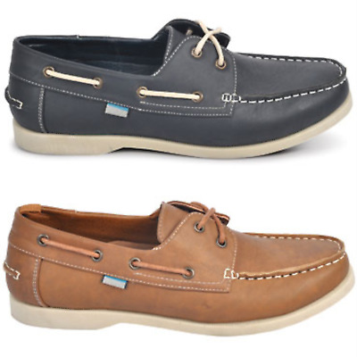 NEW Spendless Mens Deck Olympus Casual Lace Up Easy Slip On Style Boat Shoes